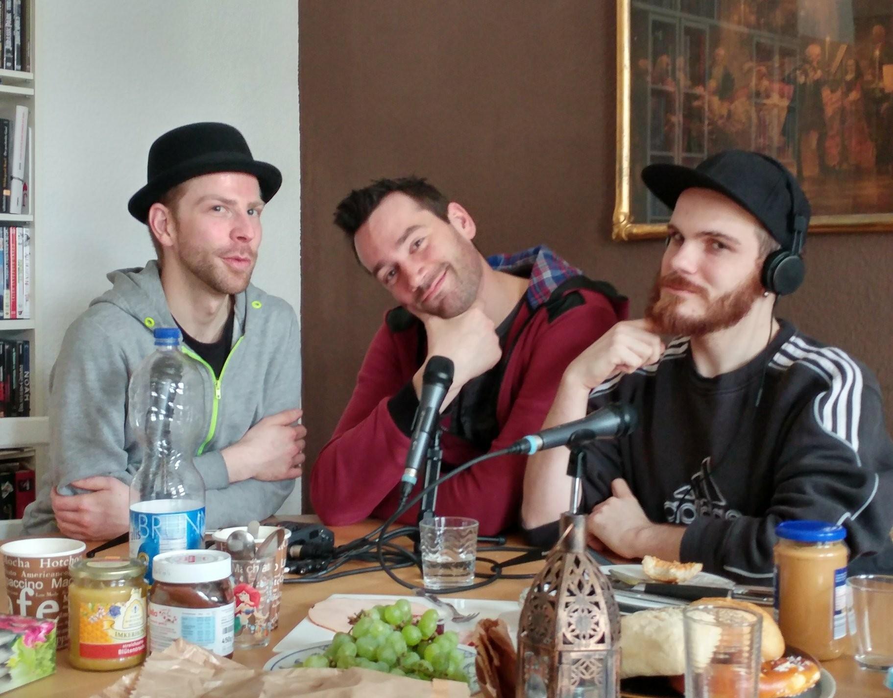 Mit Tim Bambi Mercury in Berlin beim Ausgang Podcast Interview